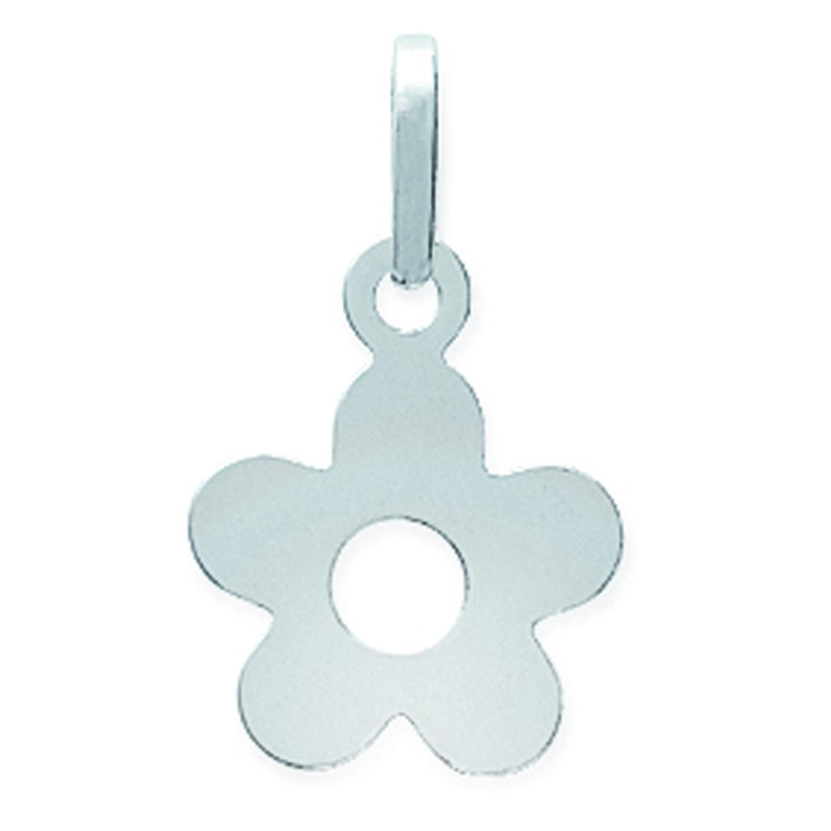 Pendentif Argent \'Fleur Innocente\' argenté - 12 mm - [A2220]