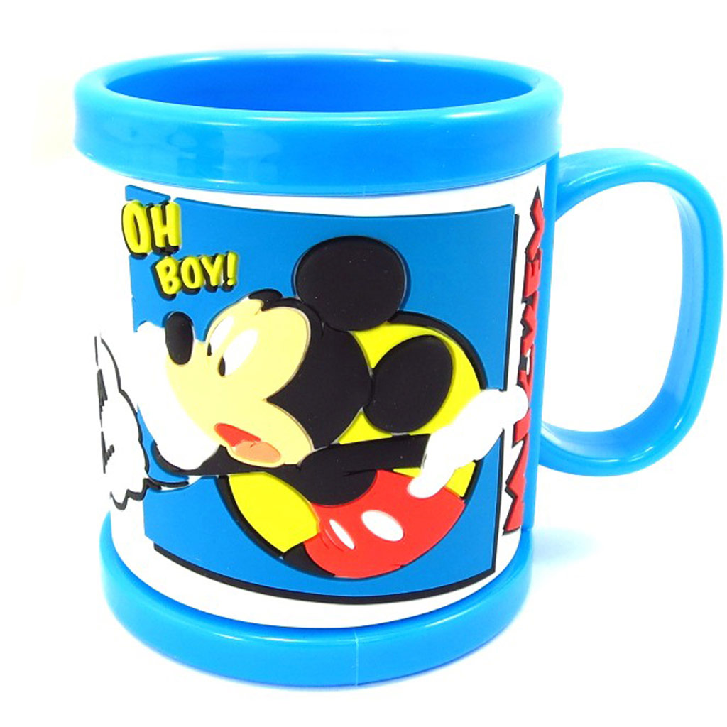 Mug gomme \'Mickey\' bleu (Mickey et Donald) - [K5264]