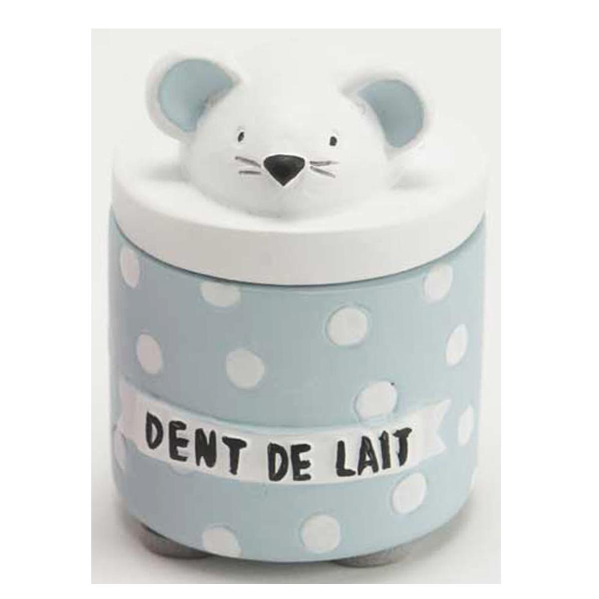 Boite à dents de lait \'La Petite Souris\' bleu blanc - 55x5 cm - [Q9562]