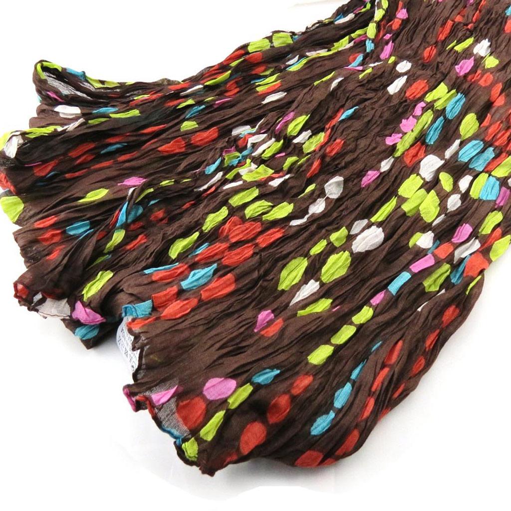 Echarpe \'Coloriage\' marron multicolore - [J2734]