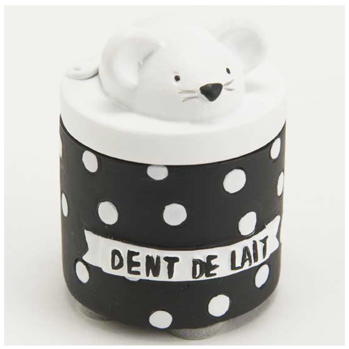 Boite à dents de lait \'La Petite Souris\' noir blanc - 55x5 cm - [Q9563]