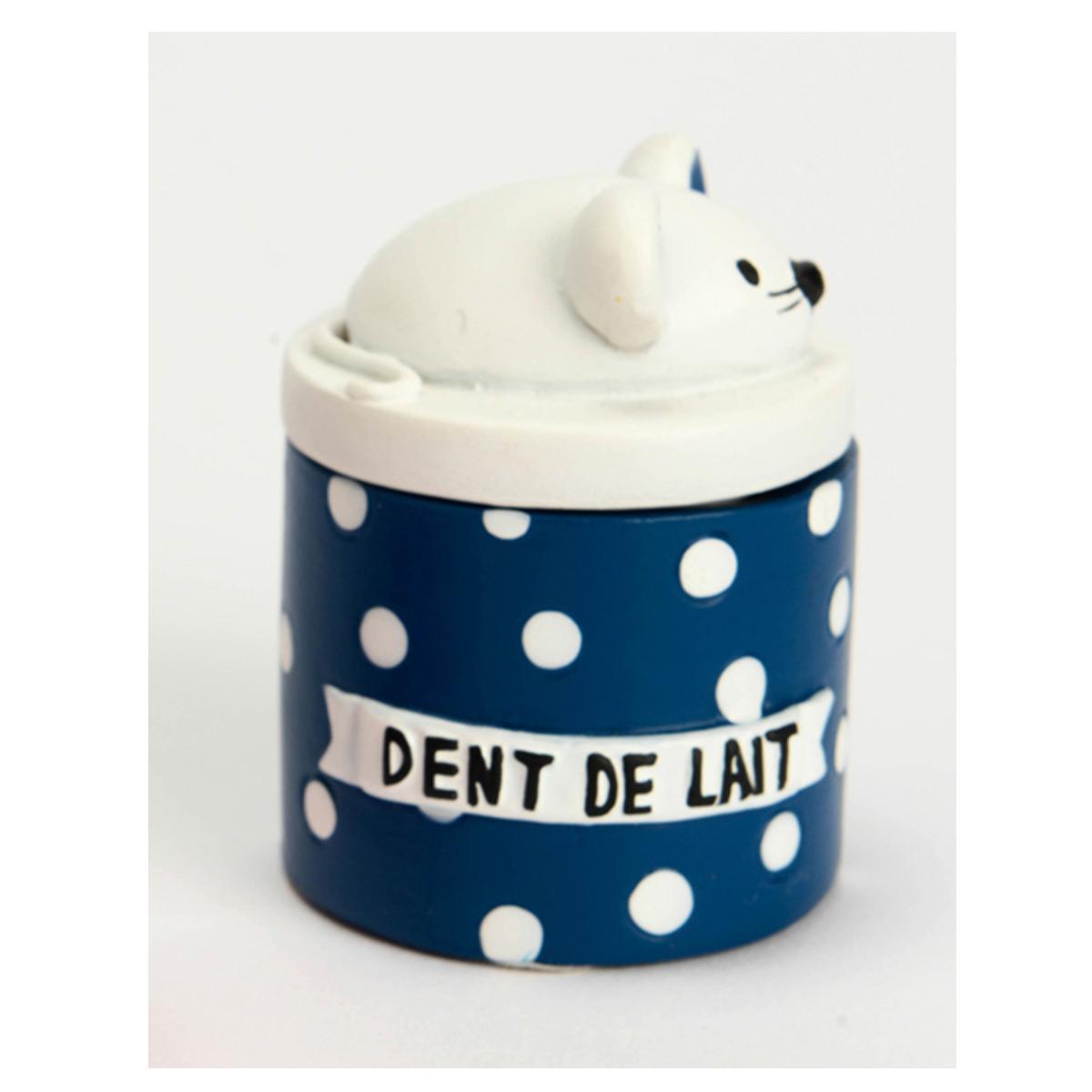 Boite à dents de lait \'La Petite Souris\' marine blanc - 55x5 cm - [Q9565]