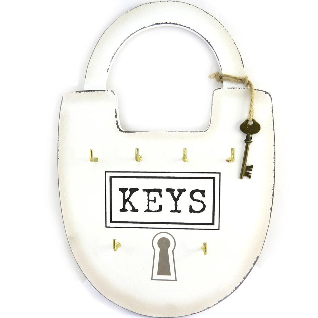Boite à clés \'Mega Cadenas\' ivoire (6 clés) - 23x35 cm - [M9058]