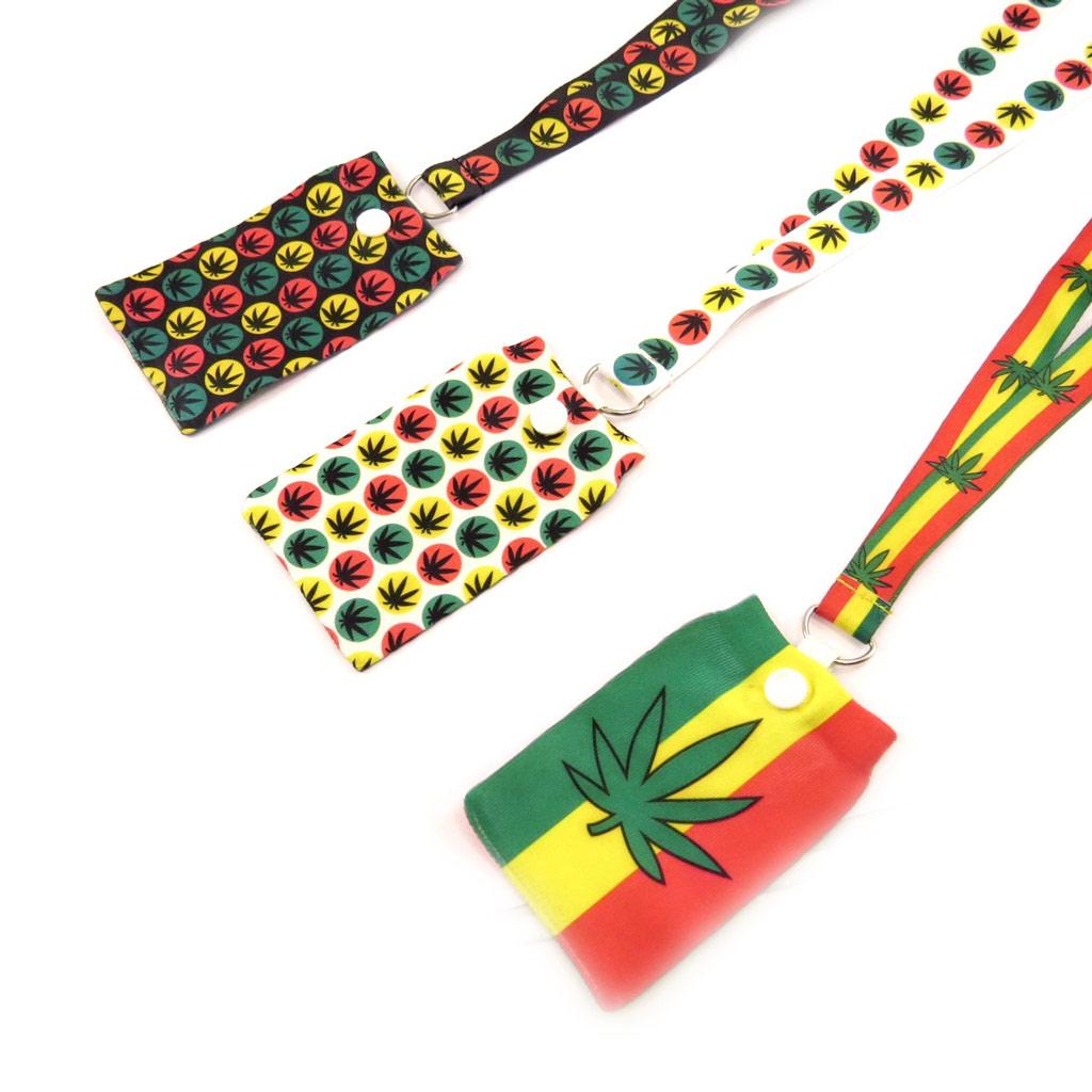 3 cordons + chaussettes téléphone \'Rasta\' jamaica - [K8576]
