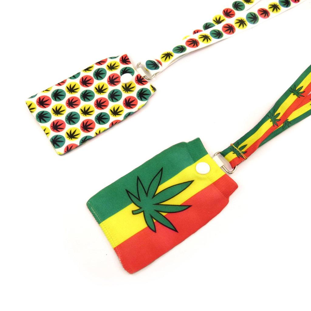2 cordons + chaussettes téléphone \'Rasta\' jamaica - [K8577]