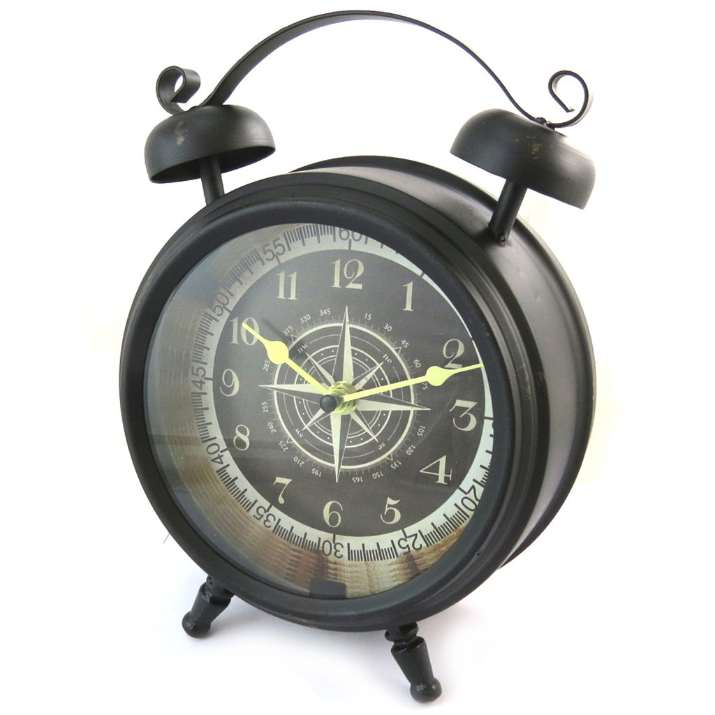 Horloge métal \'Vintage Design\' noir - [N4827]