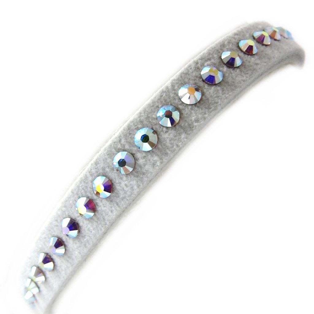 Bracelet créateur \'Déesse\' blanc boréal (cristal de Swarovski) 7 mm - [L9789]