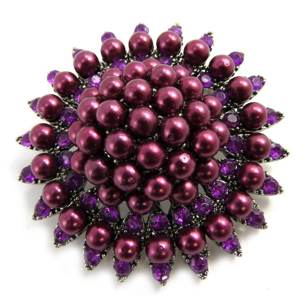 Broche Créateur \'Scarlett\' violet - [L9798]