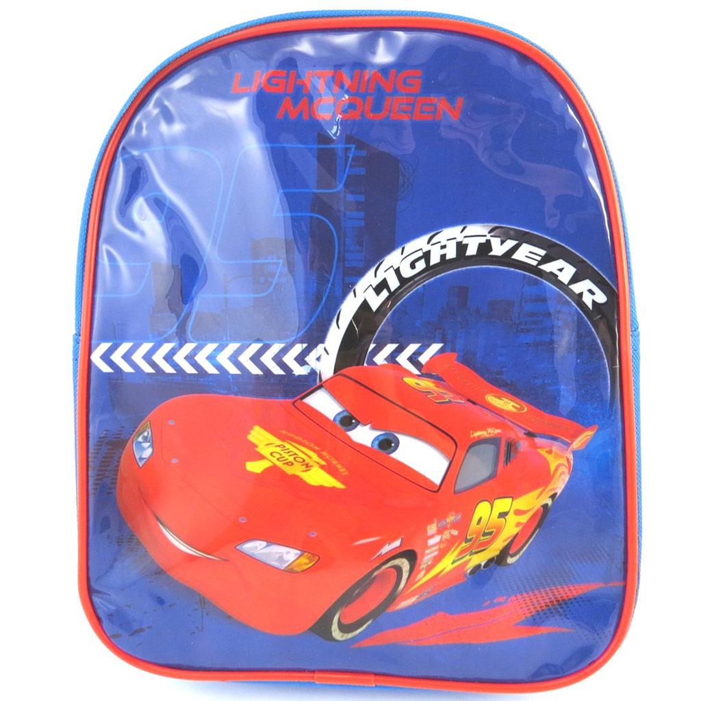 Sac à Dos \'Cars\' bleu rouge (26x21x10 cm) - [M5097]