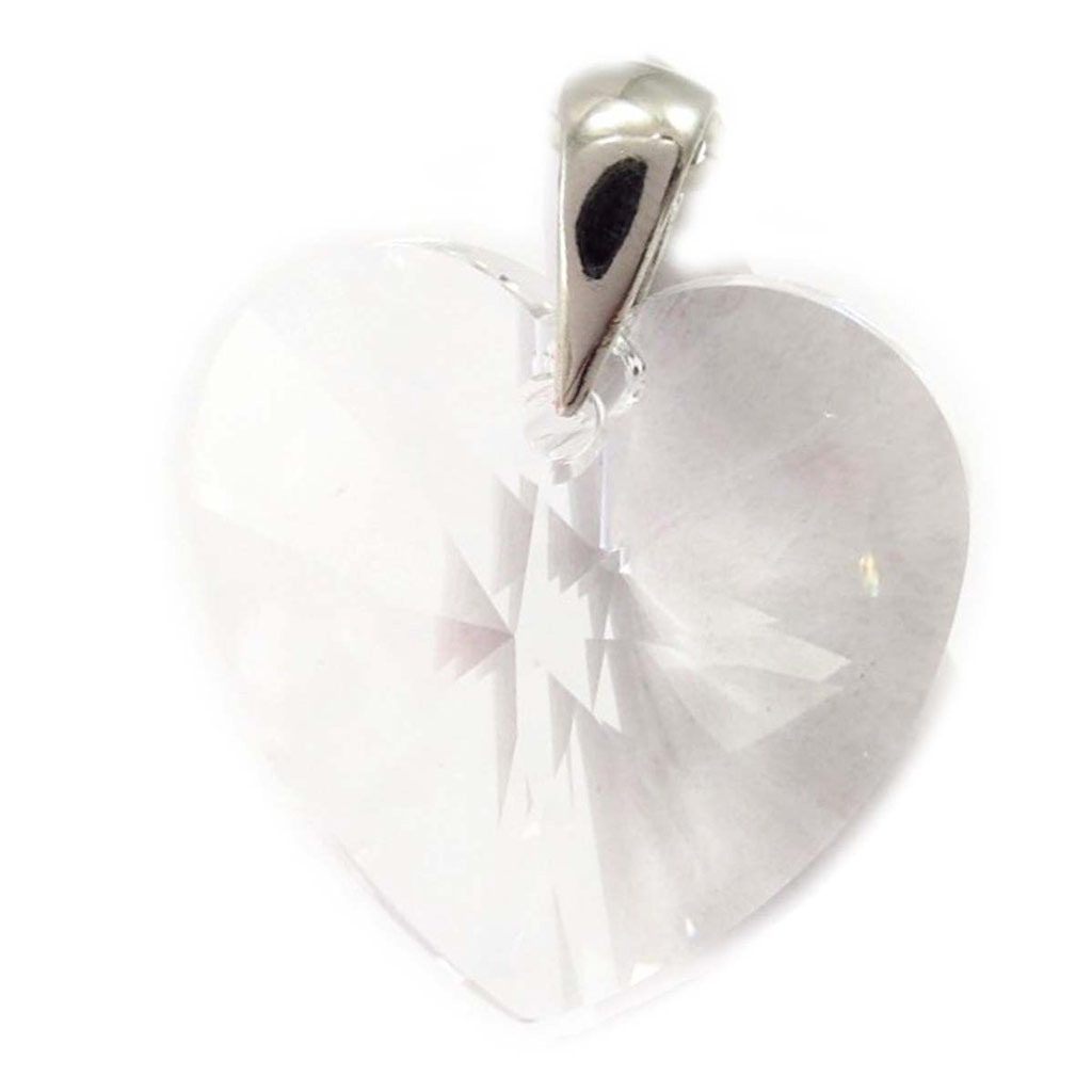 Pendentif Argent \'Love\' blanc (GM) - [K5449]