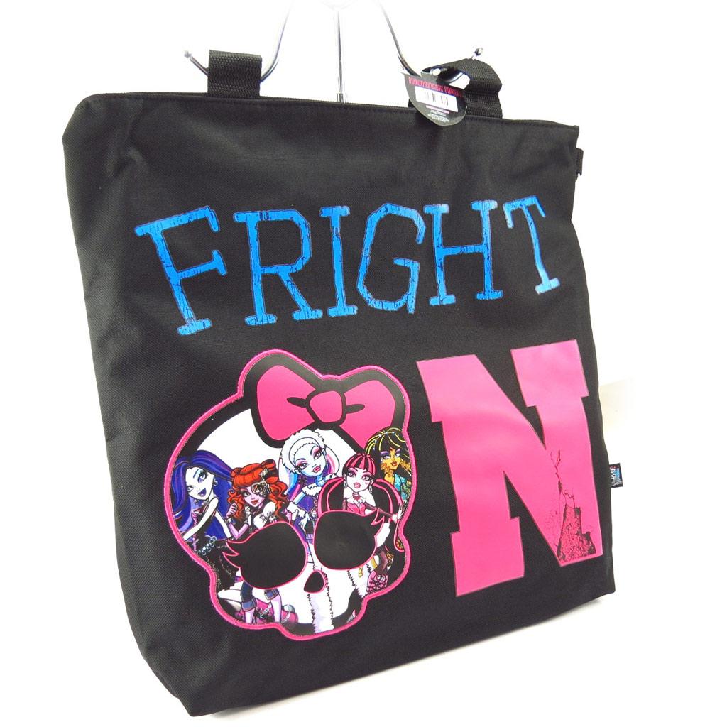 Sac cabas \'Monster High\' noir rose - [K5472]