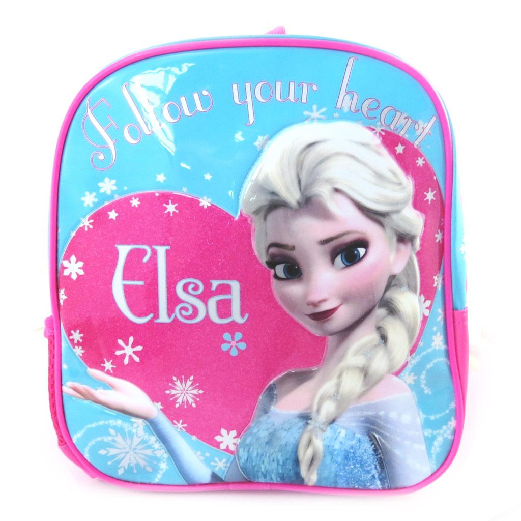 Sac à dos créateur \'Frozen - Reine des Neiges\' bleu rose (25 cm) - [M5259]