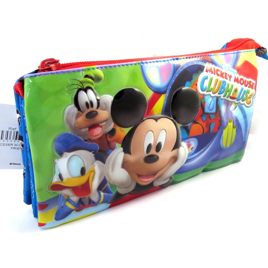 Trousse \'Mickey\' bleu vert (triple compartiments) - [M5262]