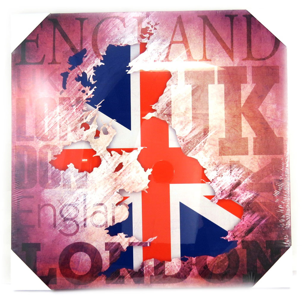 Toile \'So British\' carte (40x40 cm) - [M5296]