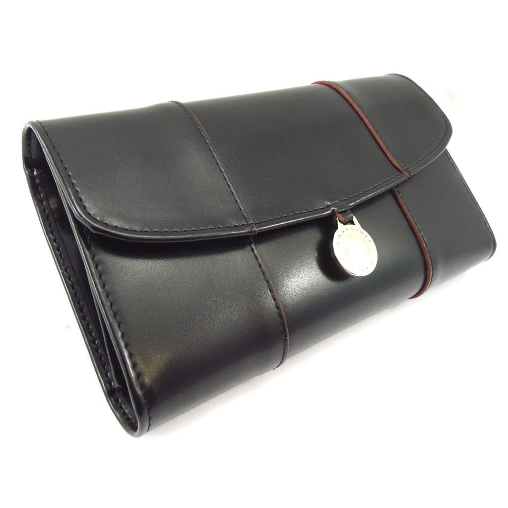 Compagnon cuir \'Vendôme\' noir - [K5612]