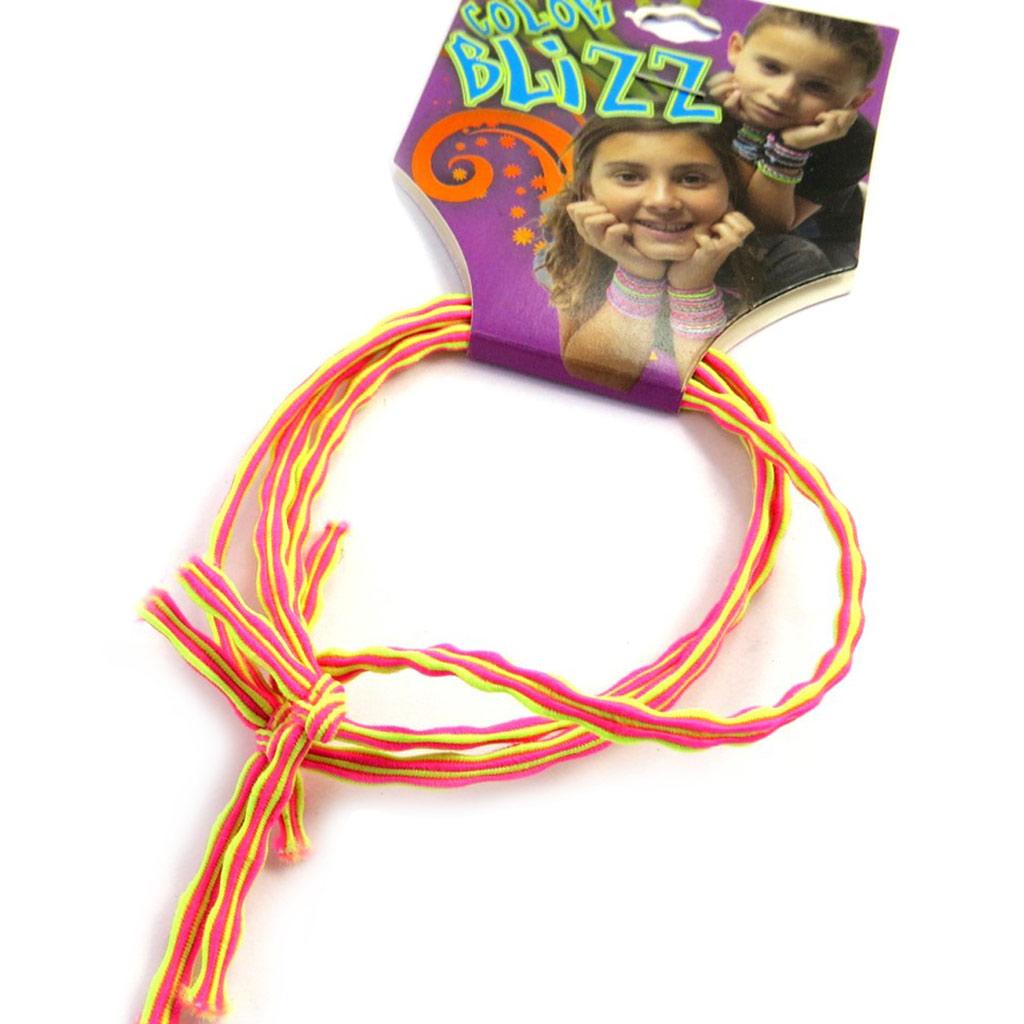 3 bracelets élastiques \'Coloriage\' jaune rose - [M5313]