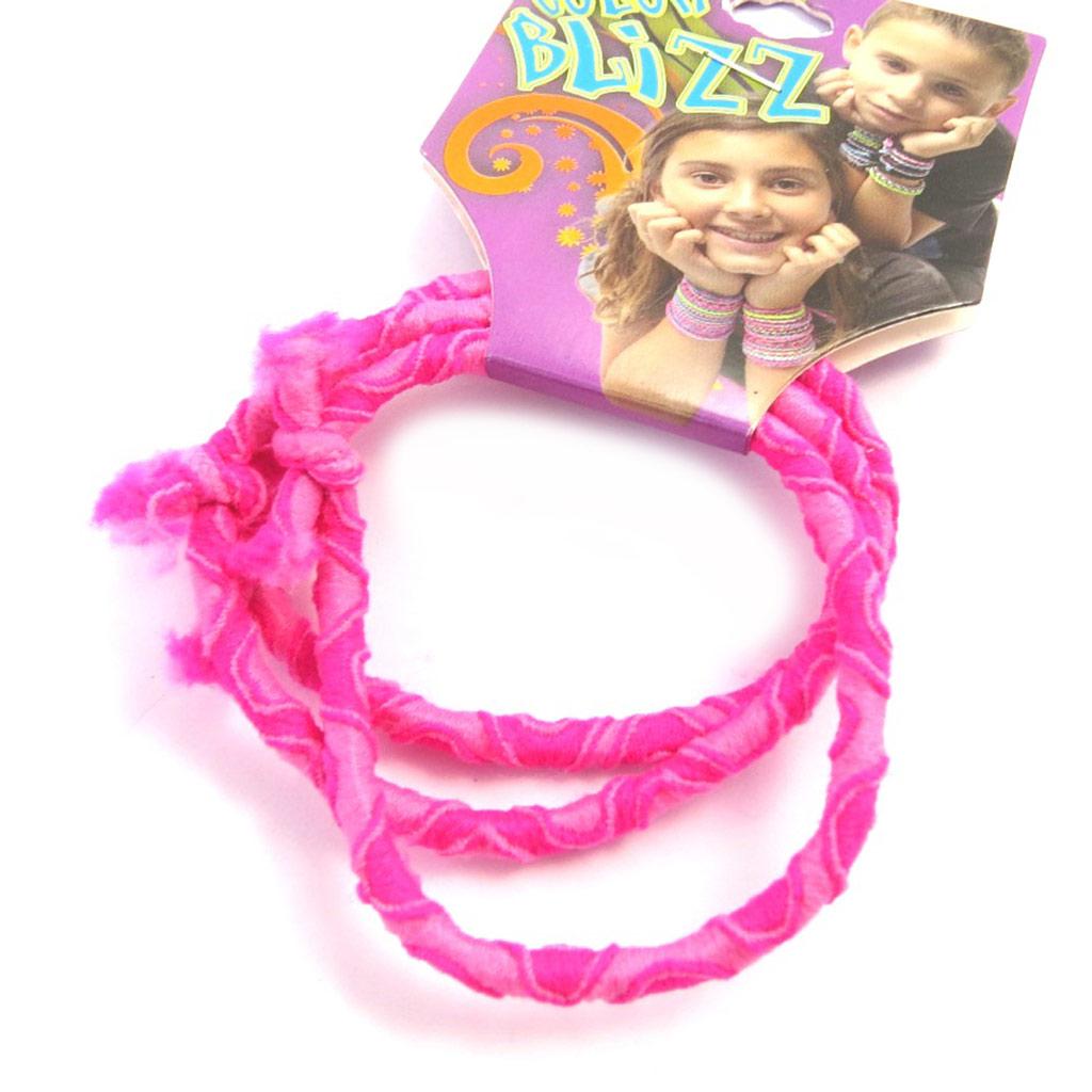 3 bracelets élastiques \'Coloriage\' rose - [M5318]