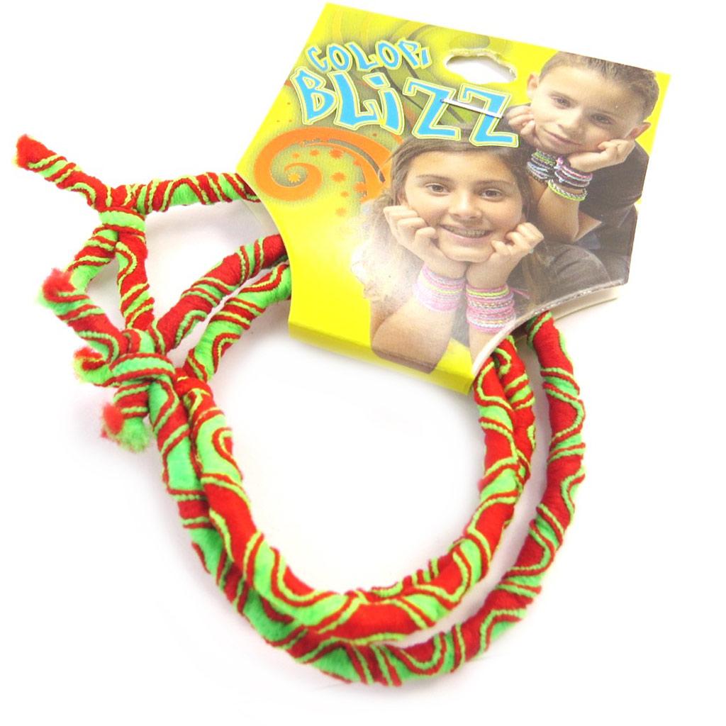 3 bracelets élastiques \'Coloriage\' rouge vert  - [M5320]