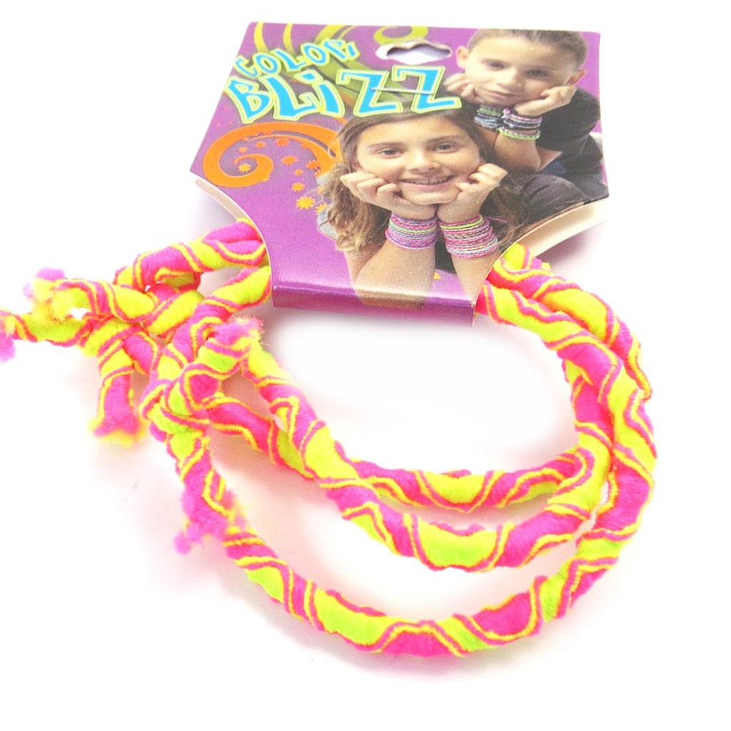 3 bracelets élastiques \'Coloriage\' rose jaune - [M5321]