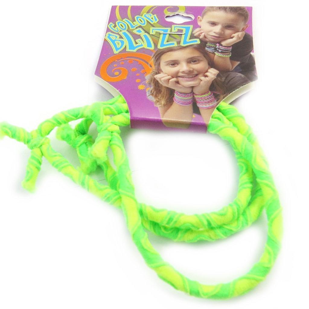 3 bracelets élastiques \'Coloriage\' vert fluo - [M5322]