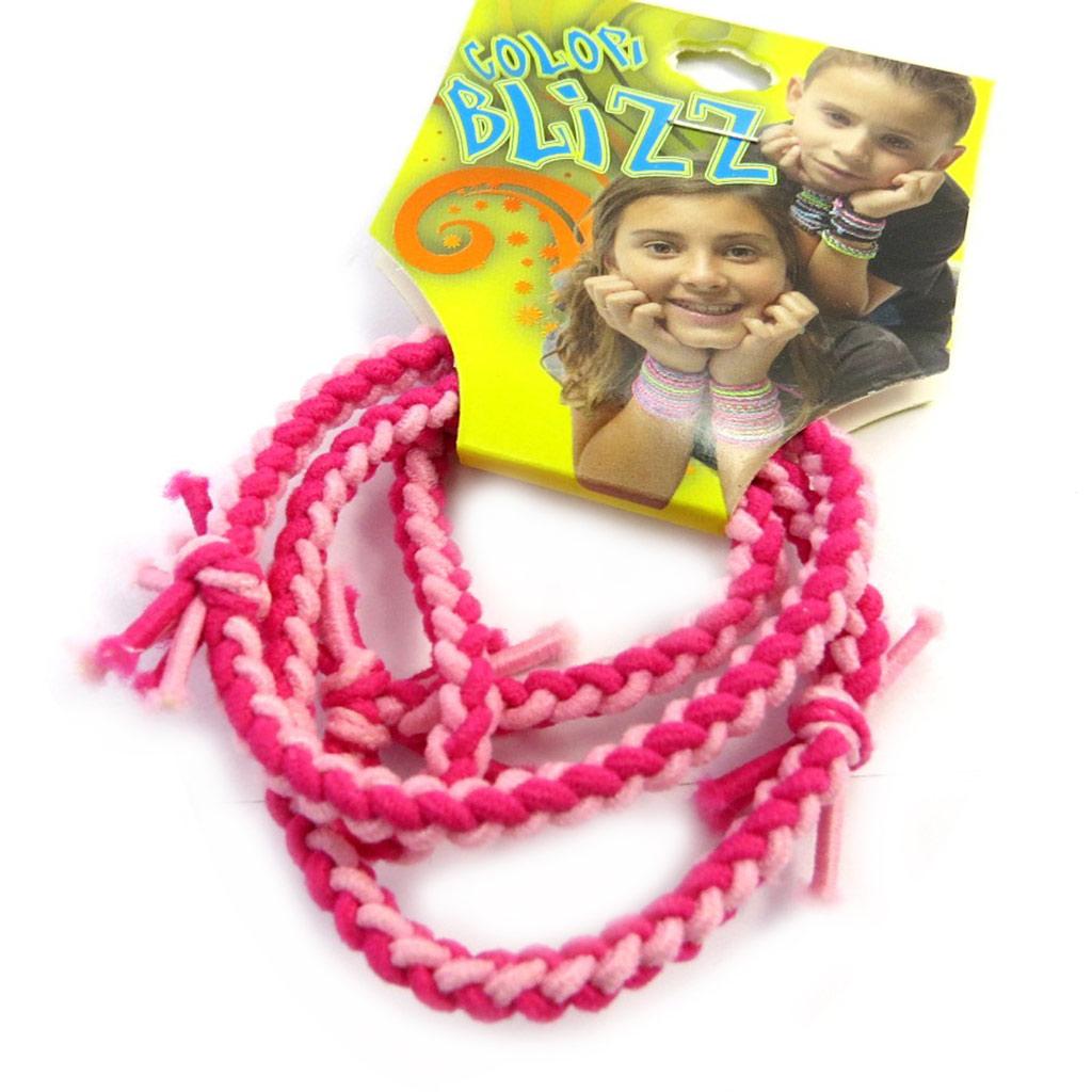 3 bracelets élastiques \'Coloriage\' rose - [M5324]