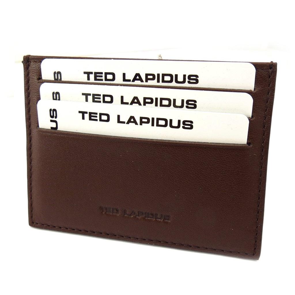 Porte-cartes \'Ted Lapidus\' marron - [K5644]