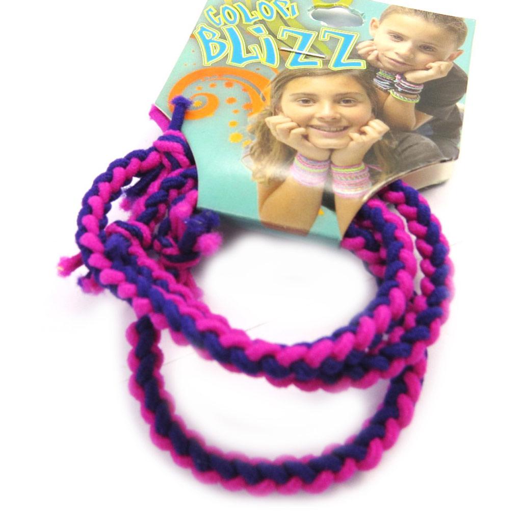 3 bracelets élastiques \'Coloriage\' violet rose - [M5331]