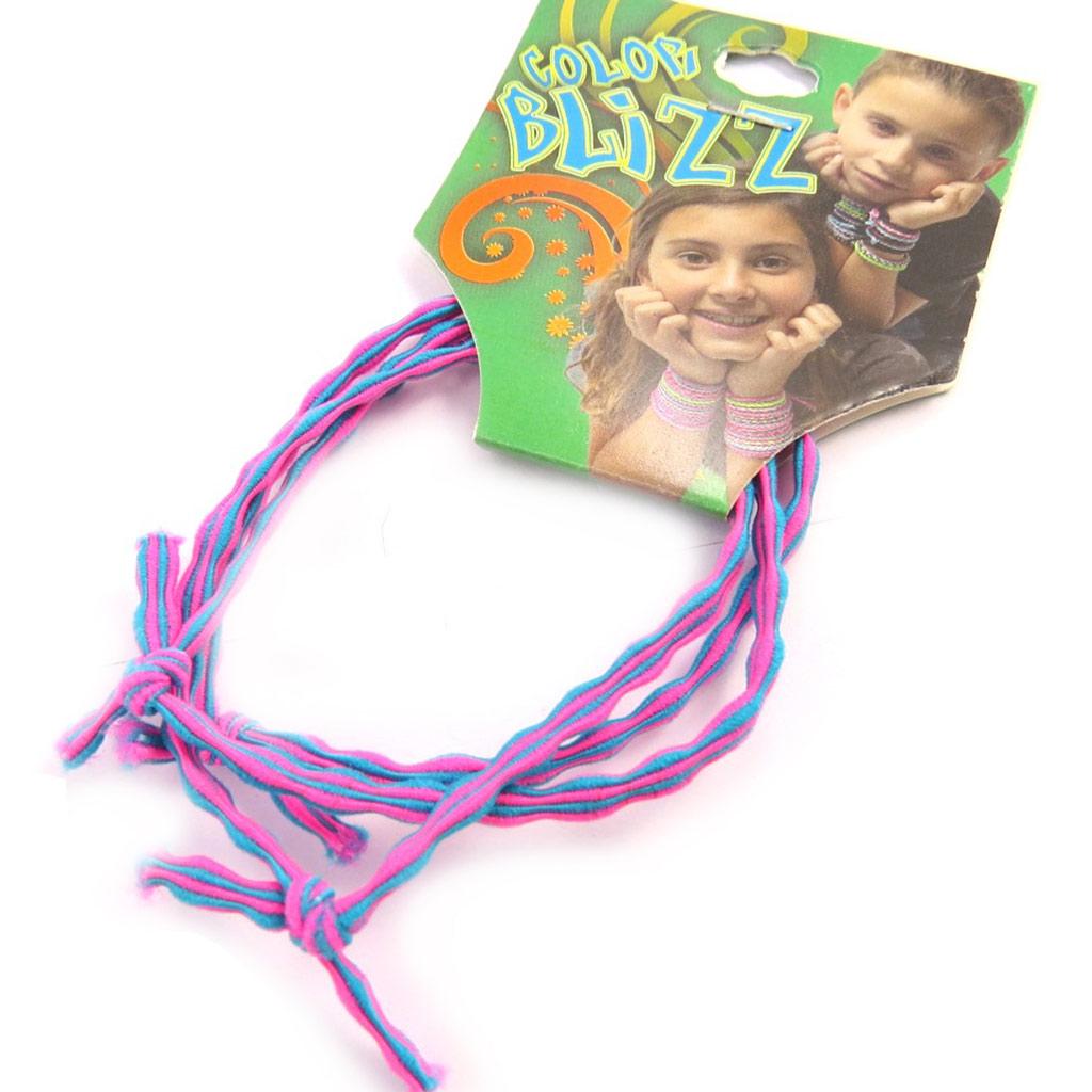 3 bracelets élastiques \'Coloriage\' rose mauve - [M5336]