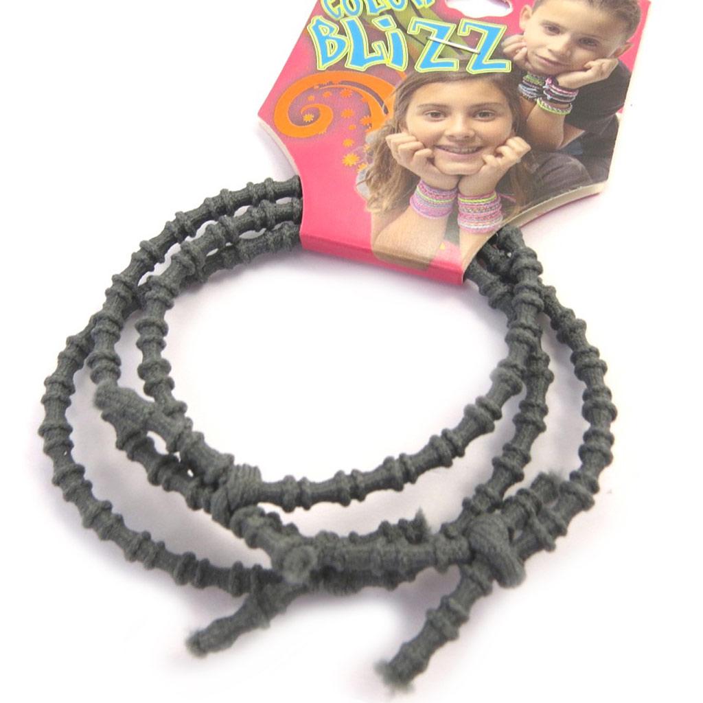 3 bracelets élastiques \'Coloriage\' gris  - [M5340]