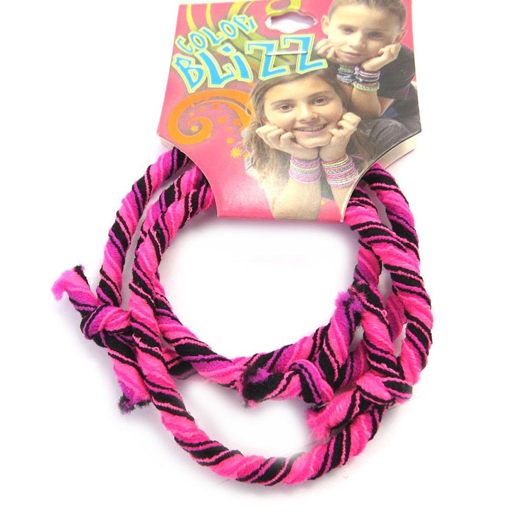 3 bracelets élastiques \'Coloriage\' rose - [M5344]