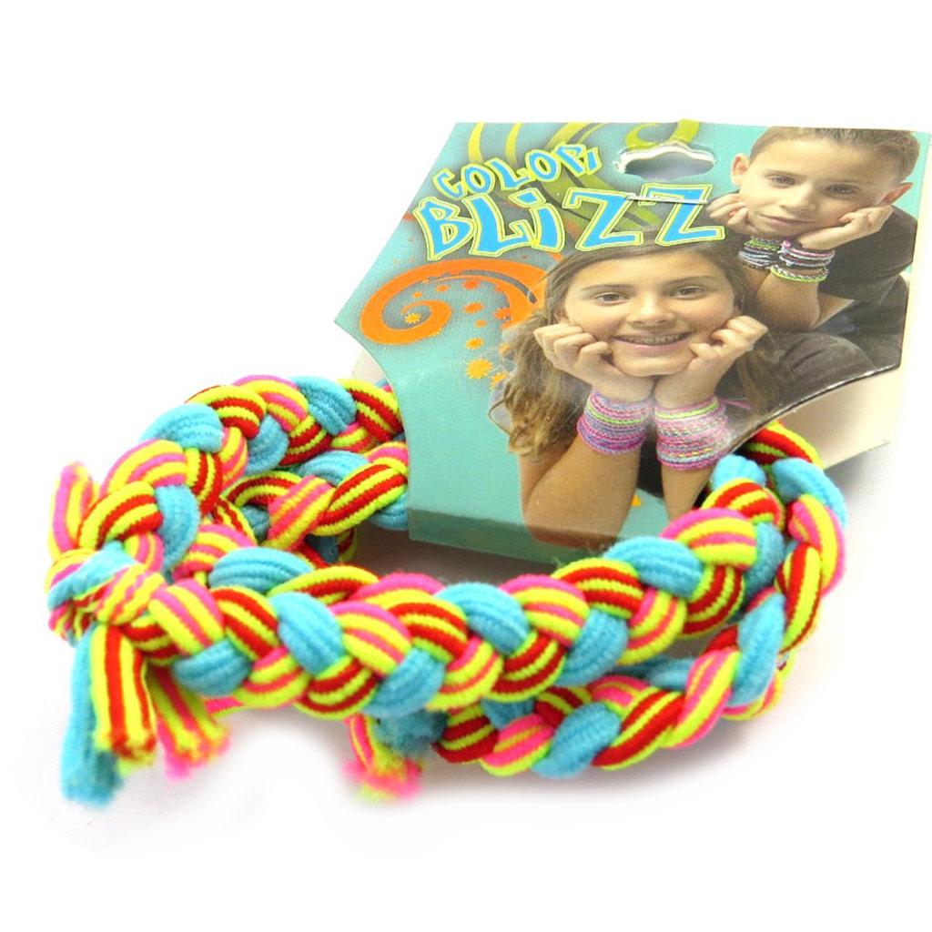 3 bracelets élastiques \'Coloriage\' turquoise rose jaune - [M5345]