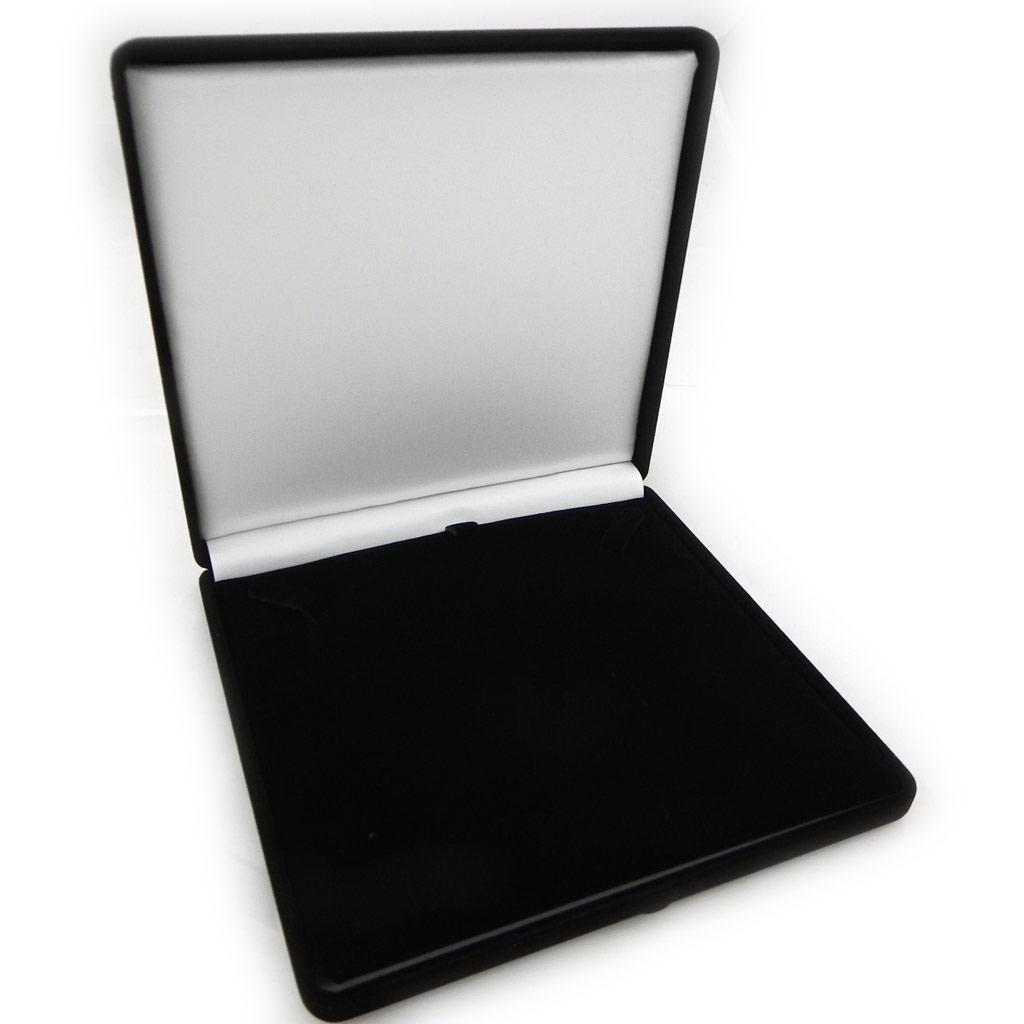 Ecrin Collier \'Velours\' Noir - 16x16 cm - [A8367]
