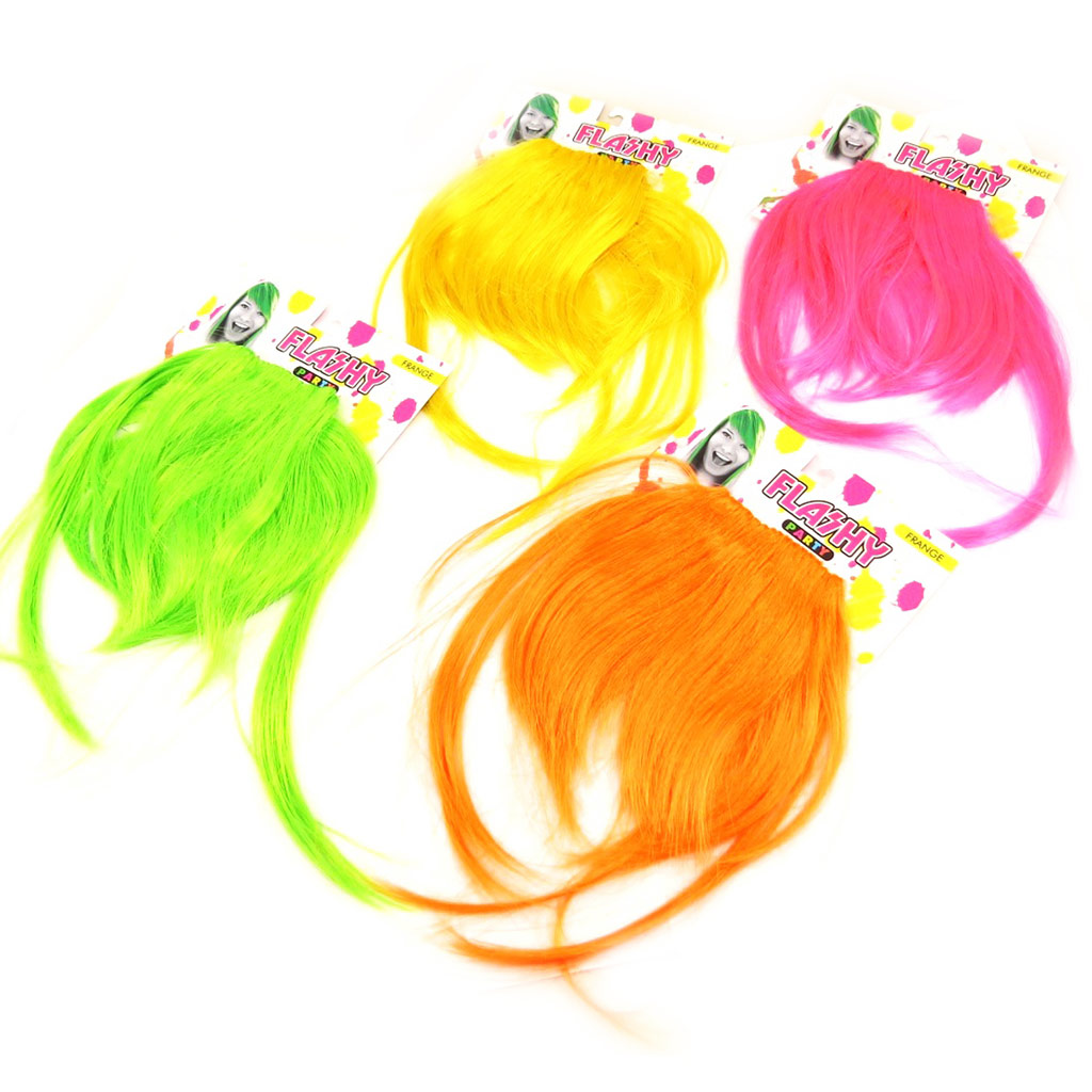 Set de 4 franges \'Coloriage\' tutti frutti (faux cheveux) - [L3996]