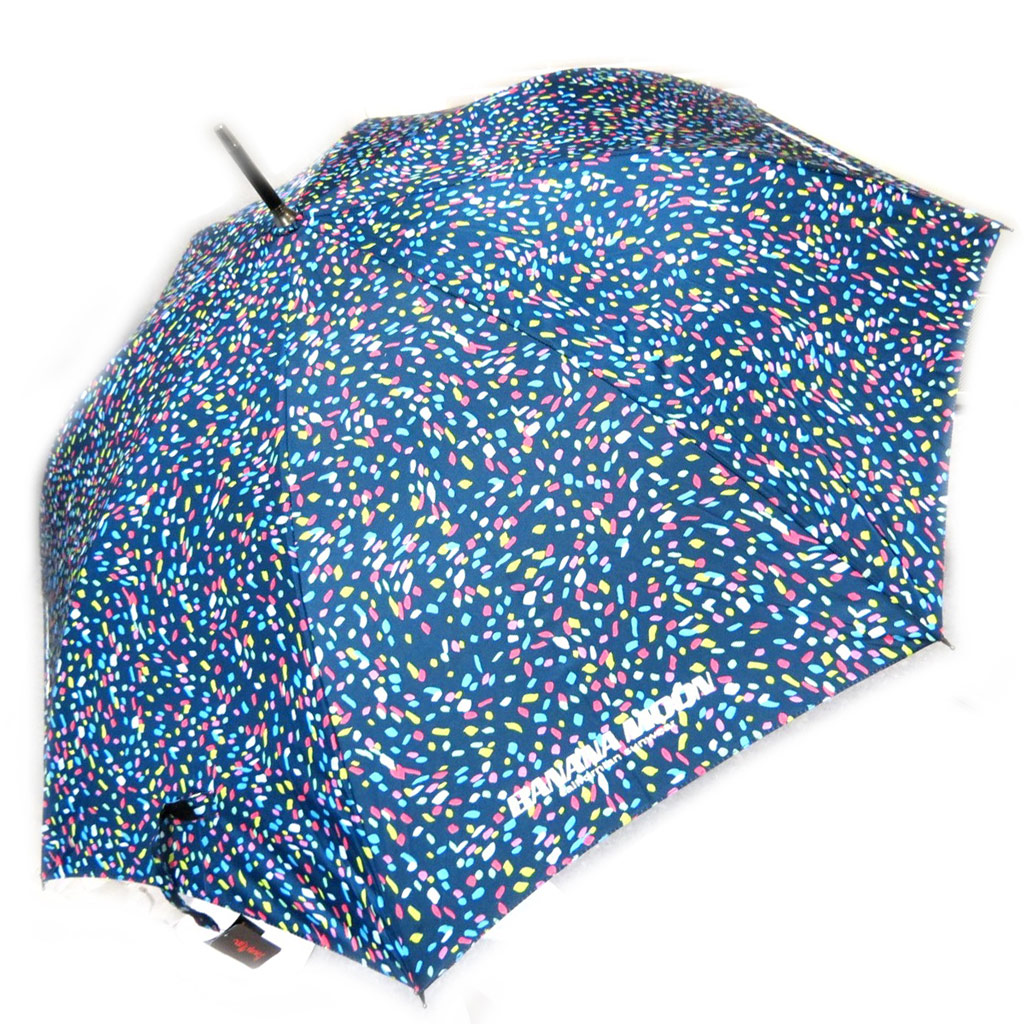 Parapluie \'Banana Moon\' bleu multicolore (canne) - [L4017]