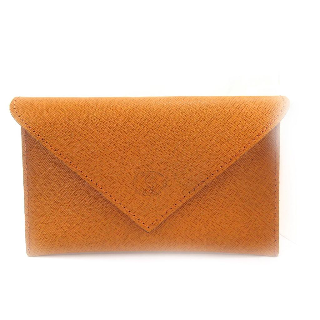 Porte Papiers de voiture Cuir \'Frandi\' orange (ultra plat) - [L4101]