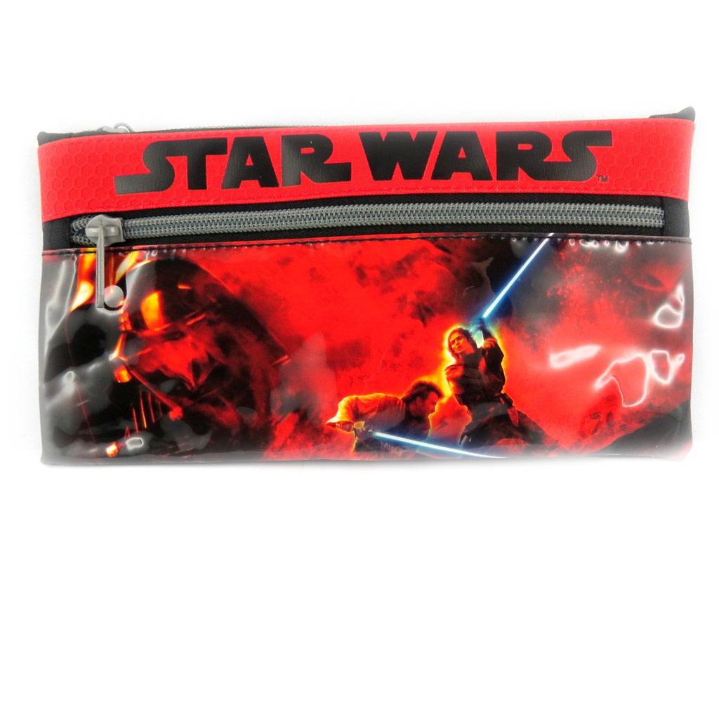 Trousse plate \'Star Wars\' rouge noir  - [L4149]