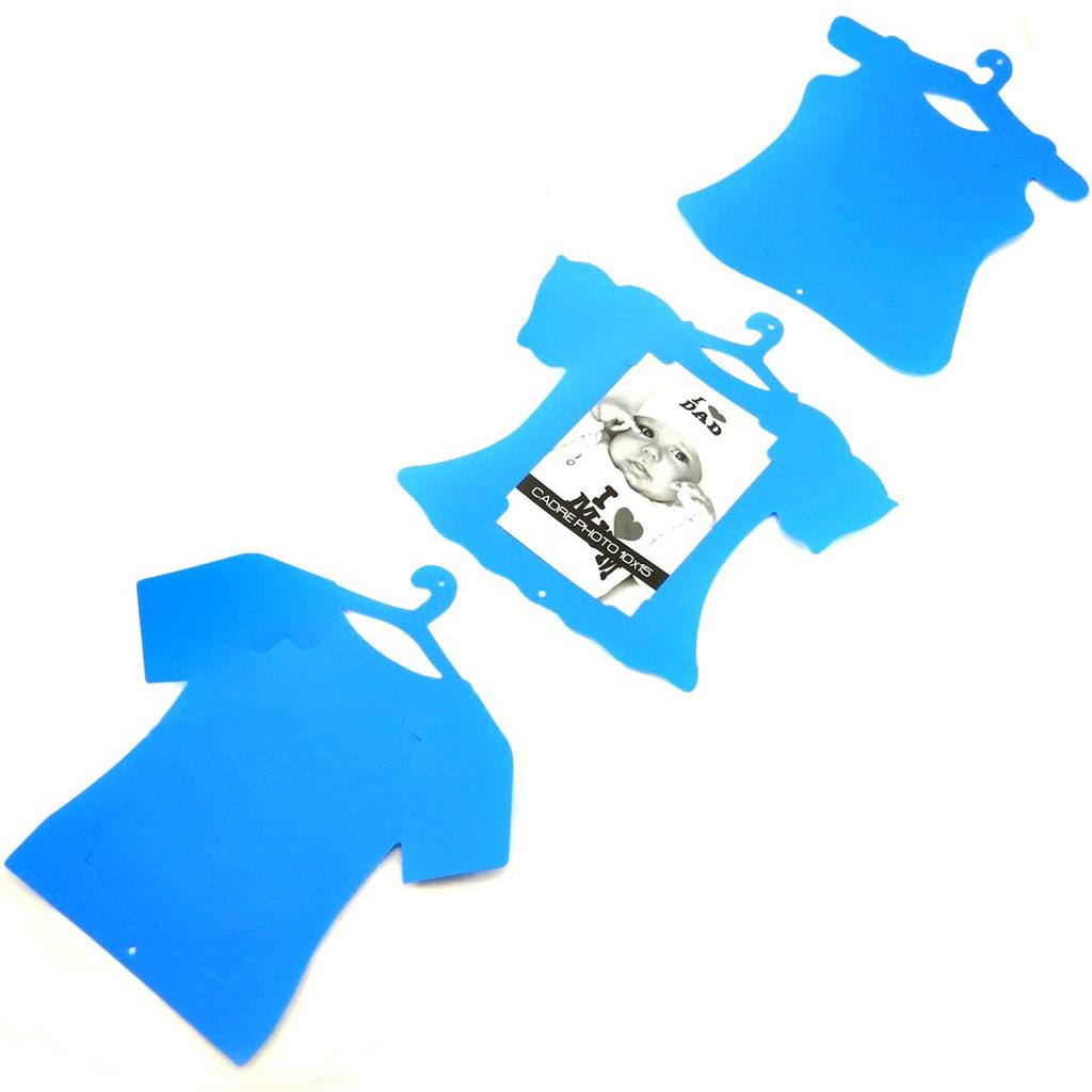Pêle-mêle \'T-shirt\' bleu (3 photos) - [L4194]