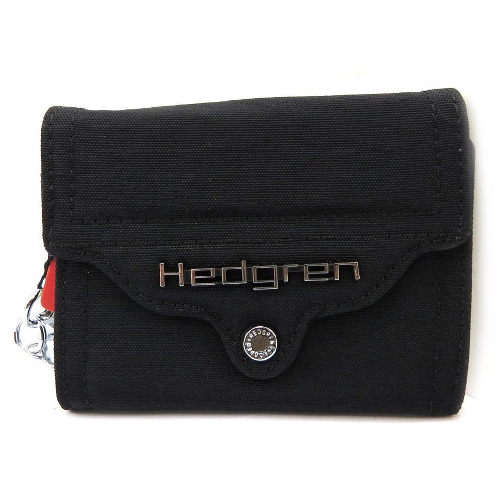 Porte-monnaie toile \'Hedgren\' noir - [L4209]