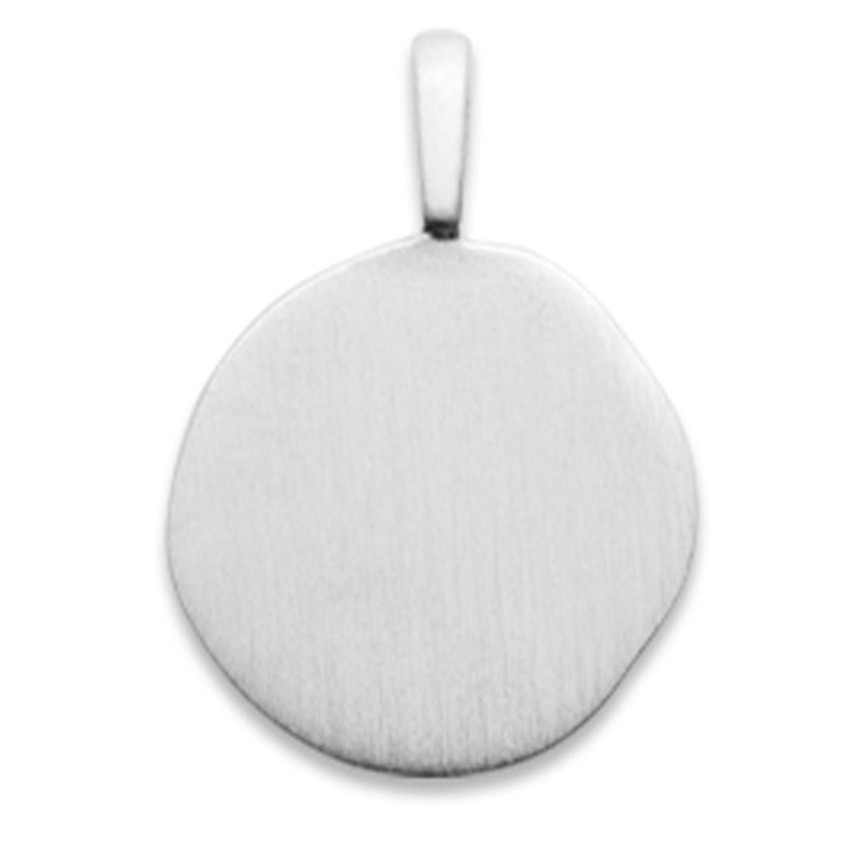 Pendentif Argent \'Antica\' argenté (rhodié) - 14x14 mm - [Q8487]