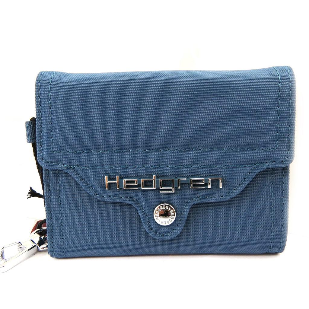 Porte-monnaie toile \'Hedgren\' bleu - [L4237]