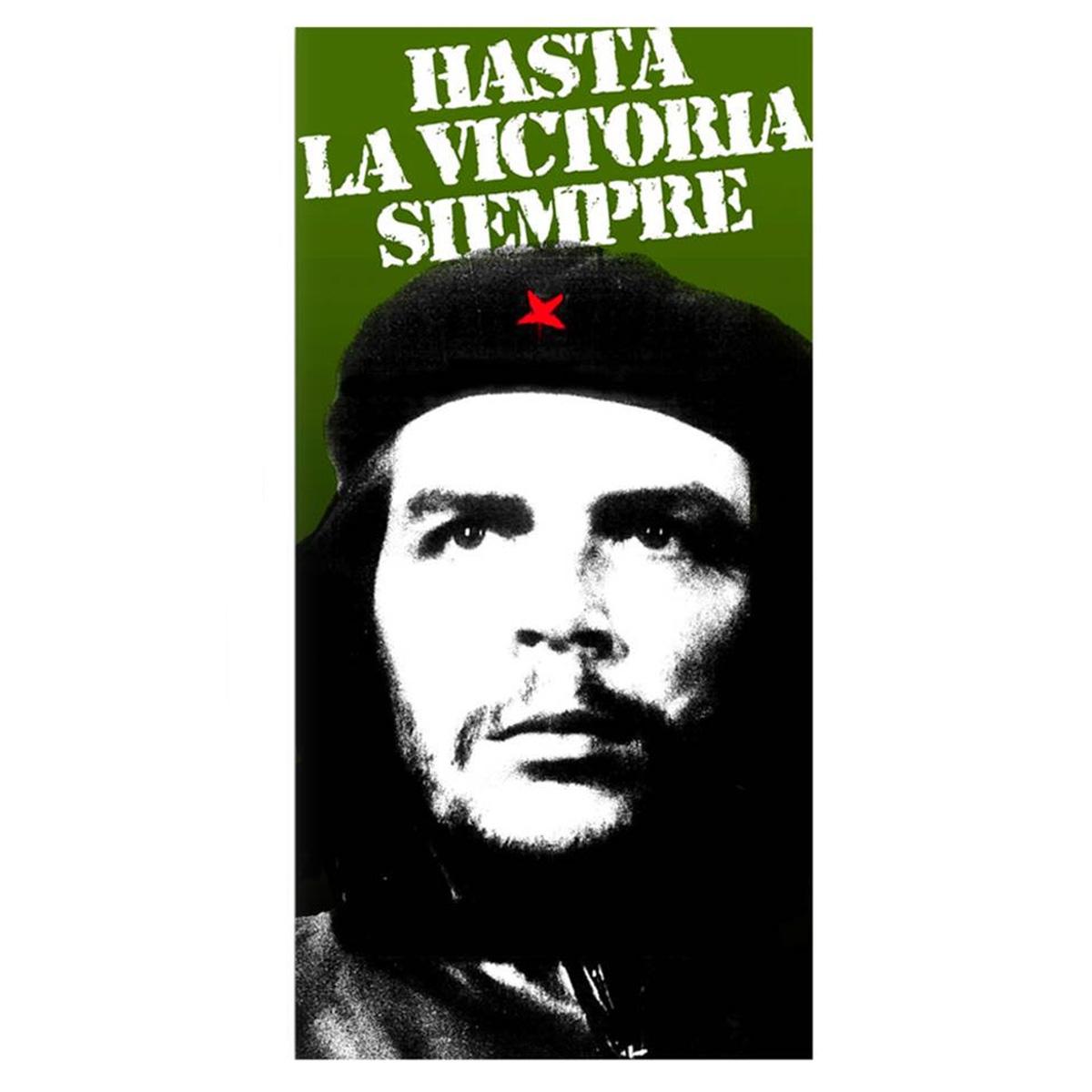 Drap de plage \'Che Guevara\' noir vert - 76x152 cm - [Q8510]