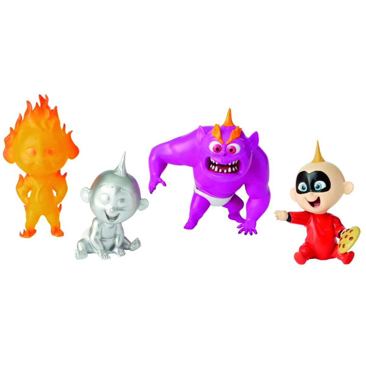 Figurines résine \'Jack Jack\' rouge noir - 4 états du bébé - [Q2850]