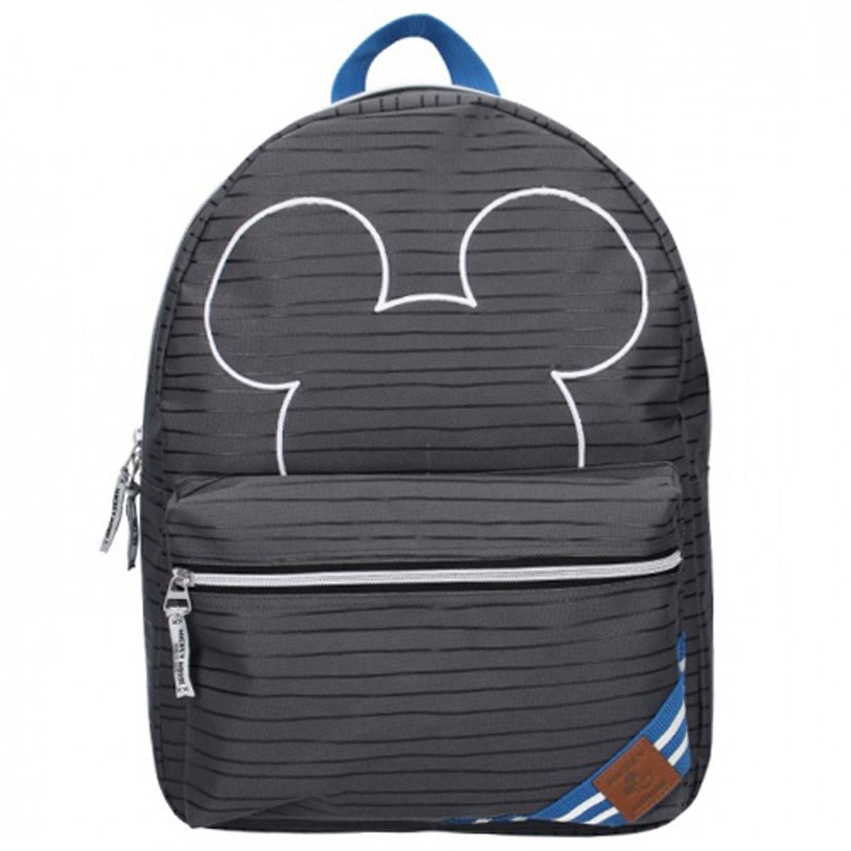 Sac à dos créateur \'Mickey\' gris - 39x29x16 cm - [Q8689]