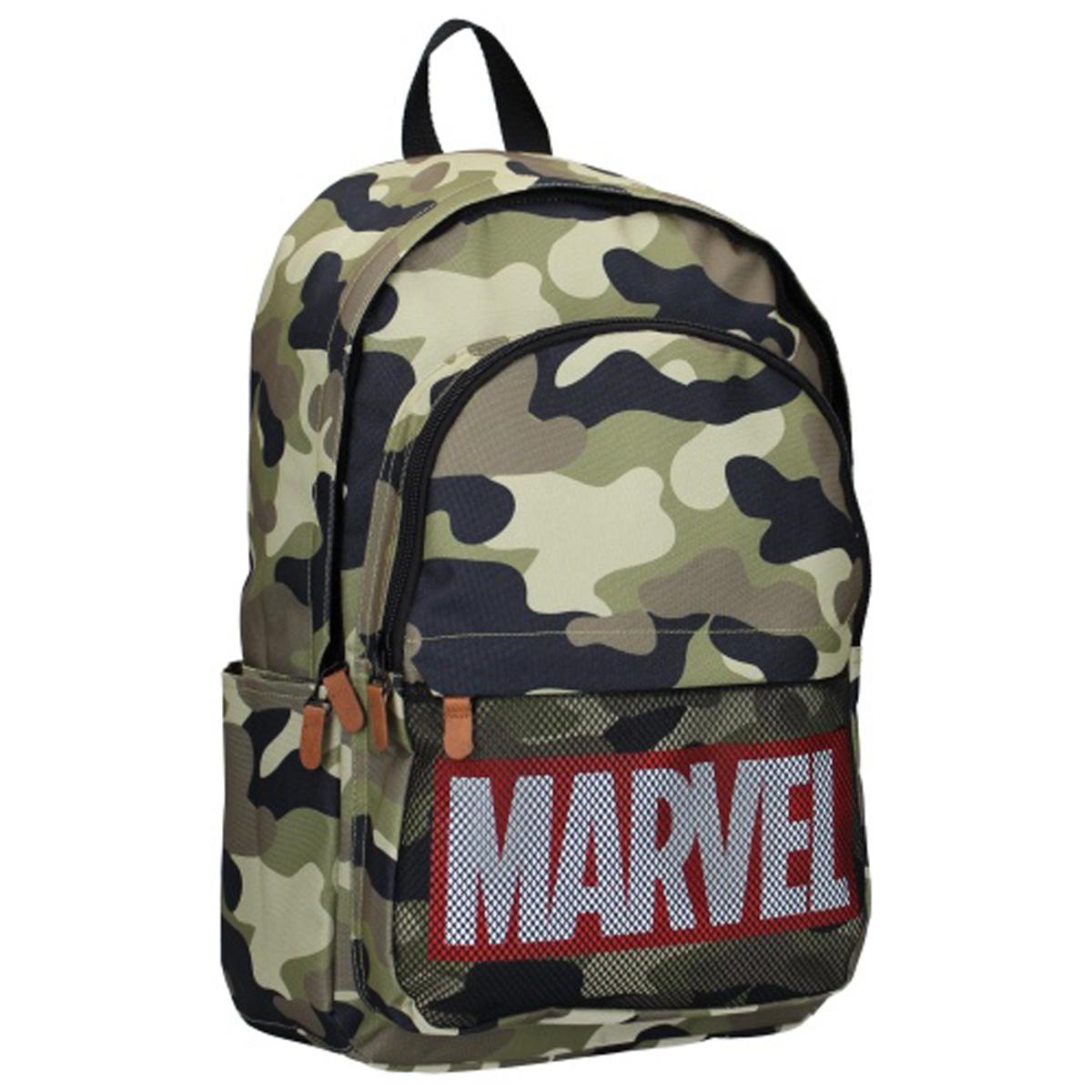 Sac à dos créateur \'Marvel\' vert camouflage - 45x25x135 cm - [Q8693]