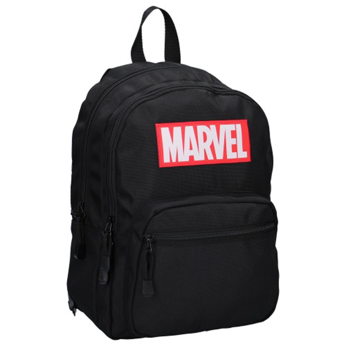Sac à dos double \'Marvel\' noir - 38x26x14 cm - [Q8694]