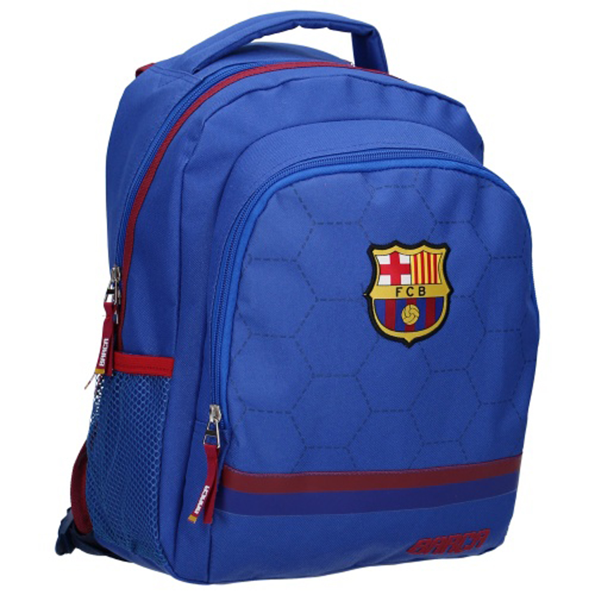 Sac à dos \'FC Barcelona\' bleu rouge - 35x27x19 cm - [Q8696]