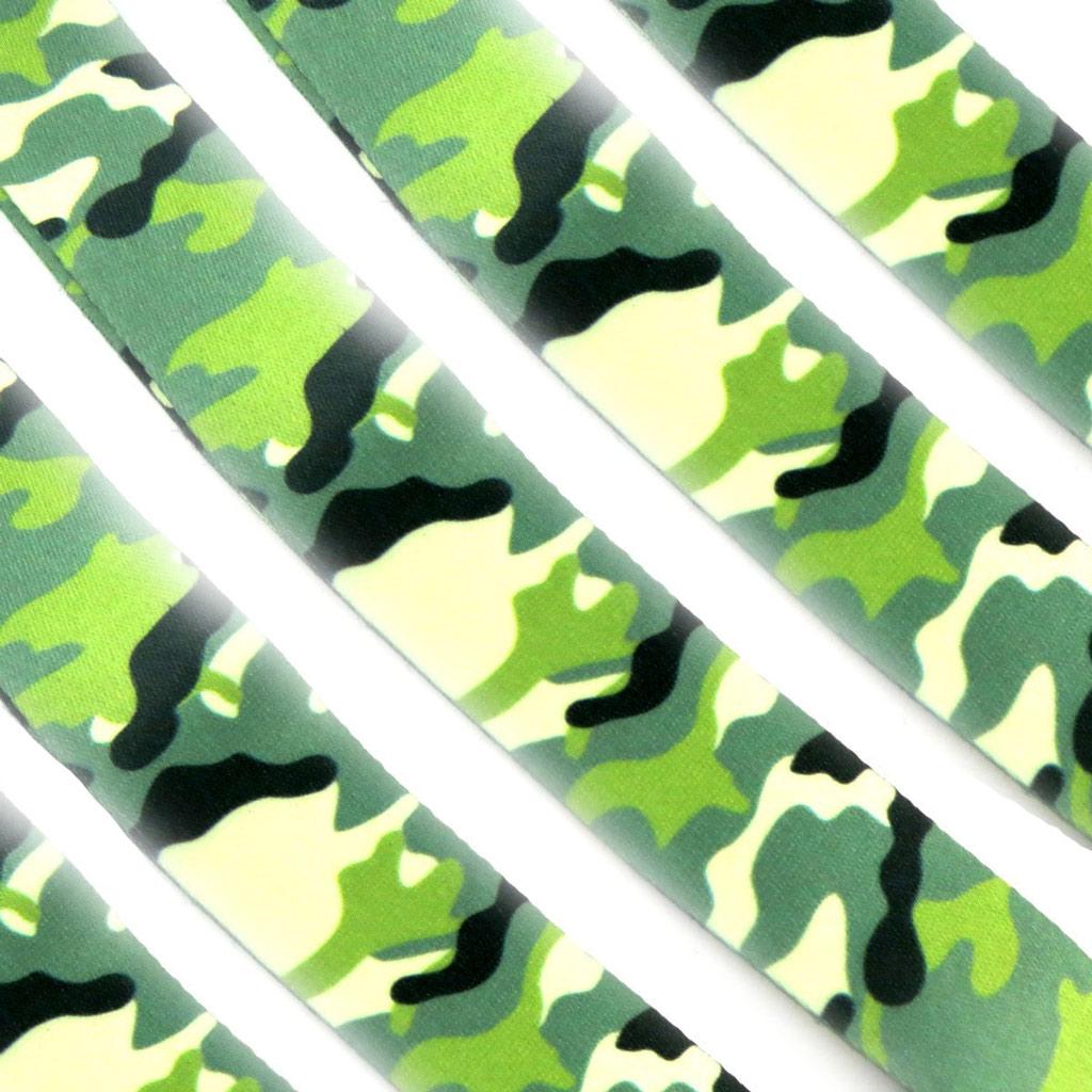 5 cordons téléphone clés \'Camouflage\' vert - [K8598]