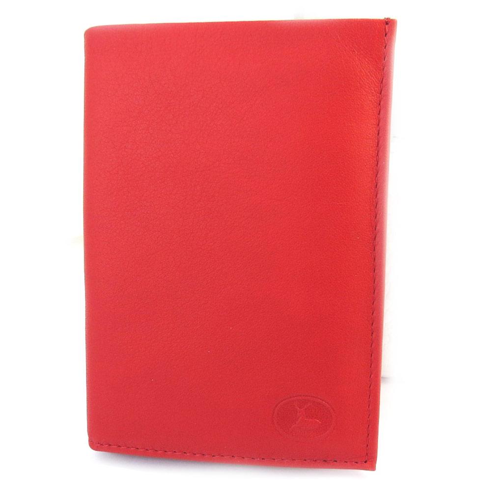 Portefeuille Cuir \'Frandi\' rouge sauvage (européen) - [M5589]