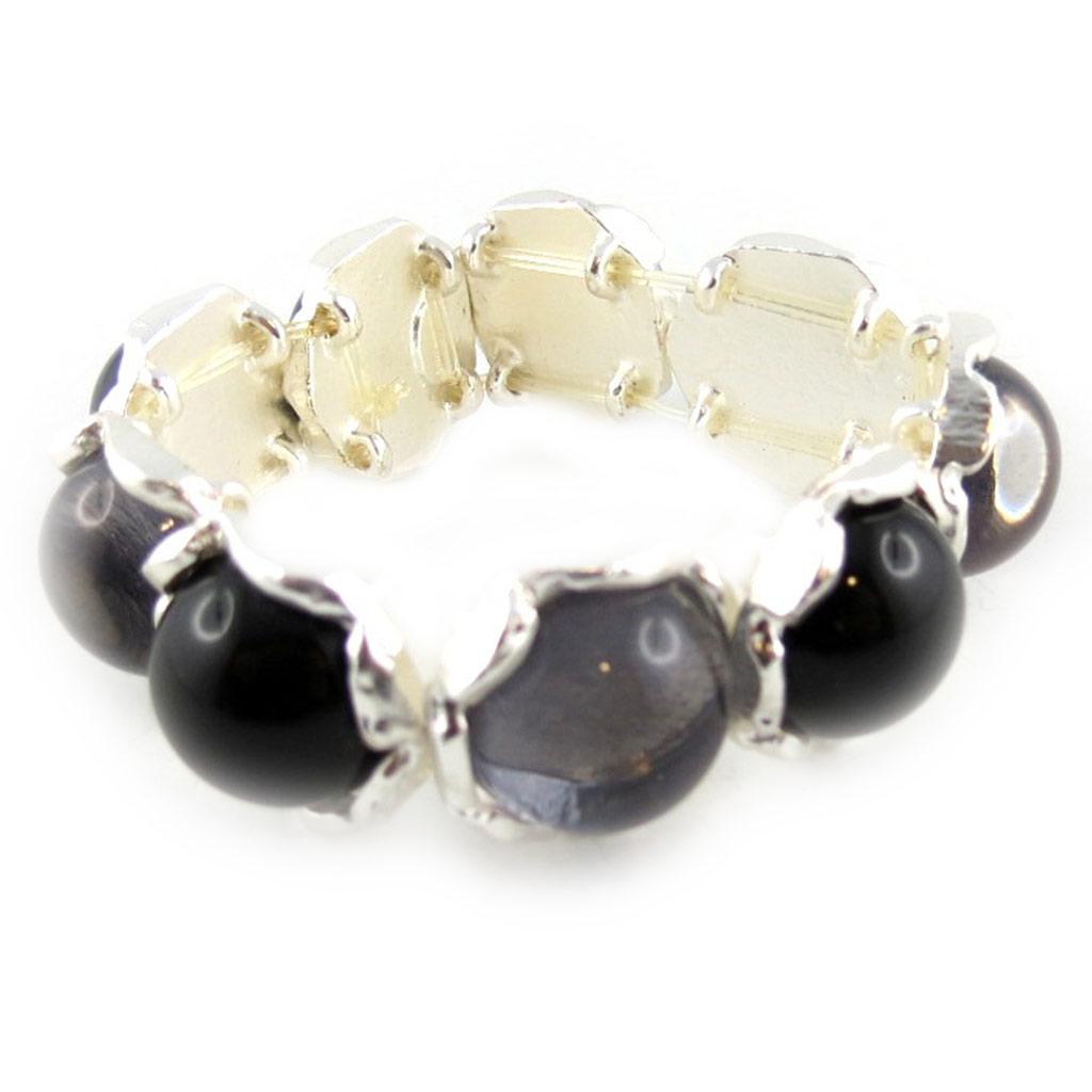 Bracelet Créateur \'Dragibus\' Noir Blanc  - [E1579]