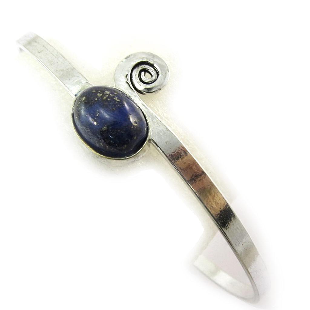 Bracelet bras créateur \'Navajos\' bleu argenté - [N5012]